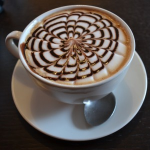A mocha from The Chocolate Cafe