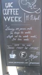UK Coffee Week Blackboard