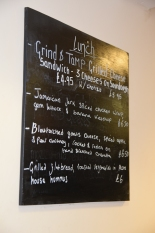 Grind and Tamp Lunch Menu
